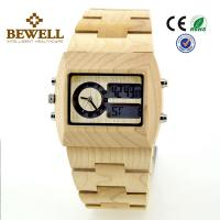 Cheap Maple Men Wooden Watches , bewell wooden wrist watch for promotion for sale
