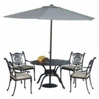 China Cast Aluminum Outdoor Furniture Set with Chair, Table on sale