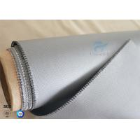 Quality 510g Waterproof  260℃ Heat Resistant Gray Silicone Coated Fiberglass Fabric 0.45mm wholesale