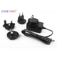 Quality FCC Wall Mounted Charger , AC To DC 12v Power Supply With Interchangeable AC Plugs wholesale