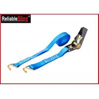 Buy cheap 25mm 1T Breaking Strength Durable Ratchet Tie Down Strap , J Hook ratchet straps from wholesalers