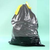 Quality LDPE Black Heave Duty Plastic Drawstring Garbage Bag for Bin wholesale