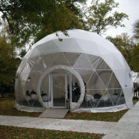Quality Outdoor Hotel Camping PVC 10m Geodesic Dome Tent With Door wholesale