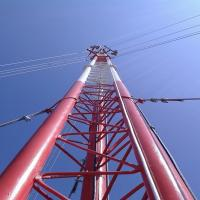 China 60m 3 Leg Steel Tubular Tower Self Supporting Microwave Transmission Tower on sale