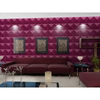 Quality Luxury Living Room 3D Wall Coverings / Wall Art 3D Wall Panels with Plant Fiber 500*500 mm wholesale