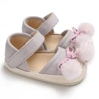 China High quality infant sandals soft sole shoes summer sandal shoe for baby girls 2019 with Cute cotton ball on sale