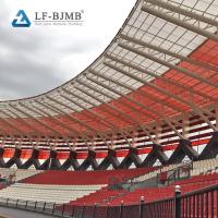 Buy cheap Prefab Curved Roof Stadium Bleachers Cover Steel Truss Roof Bleachers Canopy from wholesalers