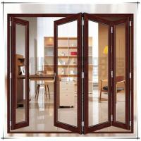 Quality Soundproof Exterior Commercial Aluminium Doors Bifold Double Glass Powder Coated Surface wholesale