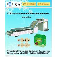 Quality BZJ-1300B Semi-Auto Laminating Machine / Corrugated Cardboard Making Machine wholesale