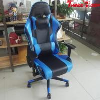 China Ergonomic  Racing Seat Gaming Chair Black And Blue Lumbar Support System on sale