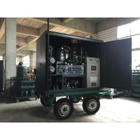 China High Vacuum Mobile Transformer Oil Purifier With Air Booster / Roots Vacuum Pump on sale