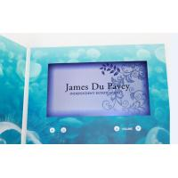 China custom Multi - page handmade lcd video greeting card for fair display on sale