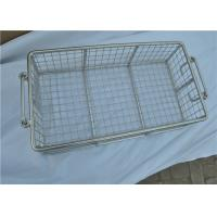 Quality Stainless Steel Metal Wire Basket With Handle For Put Storage wholesale