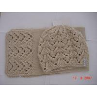 China Hand-Make Ladies Knitted Hat-2 Sets on sale