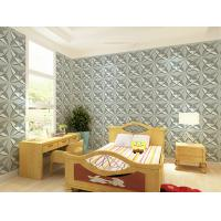 Cheap Interior 3D Wall Coverings Eco Friendly Wallpaper , Decorative 3D Shower Wall for sale