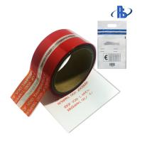 Quality Single Sided Adhesive Security Seal Tape , Red Tamper Evident Tape wholesale
