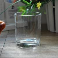 Quality 7oz Transparent replacement votive glass candle holders Machine Press wholesale