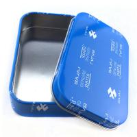 Quality Rectangular Practical Custom Tin Box Electronics Packaging Cans Offset Printing wholesale