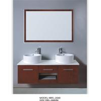 Cheap Ceramic basin double sink floating vanity 150/130 X 48 / cm , transitional for sale