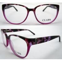 Cheap Red Round Fashion Eyeglasses Frames With Demo Lens Protect Eyes for sale