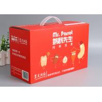 Quality Offset Printing Corrugated Packaging Box F - Flute Any Size With Plastic Handle wholesale