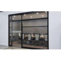 Quality Aluminum Frame Tempered Glass Modern Office Partitions / Office Room Dividers Partitions wholesale