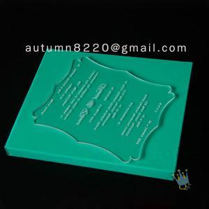 Quality interesting customized acrylic invitation wholesale