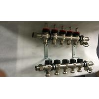 Quality House  Stainless Steel Water Manifold Sliver Color 5 Loop Radiant wholesale