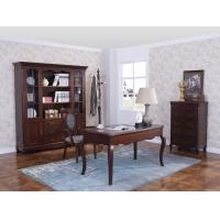 Quality Rubber Wood Home office room furniture bookcase set by Glass door with Shelves and Study desk Computer table wholesale