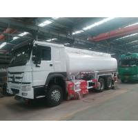 Quality Sinotruck Howo Carbon Steel Fuel Tanker Truck With 25000 Liters Tank Volume wholesale