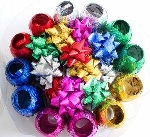 Quality Plastic Ribbon Confetti Star Bow Satin Curling Ribbon Egg For Decoration wholesale