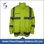 Fluorescence Hi Vis Waterproof Jacket / Winter Safety Jackets Reflective