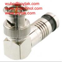 Quality BNC Coaxial Connector BNC Compression Type Right Angle 75ohm for RG6 Coax Cable wholesale