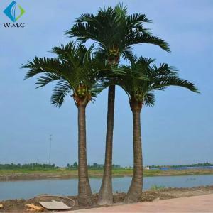 Quality Fiberglass Trunk Artificial Coconut Tree For Decoration , Custom Fake Palm Trees wholesale