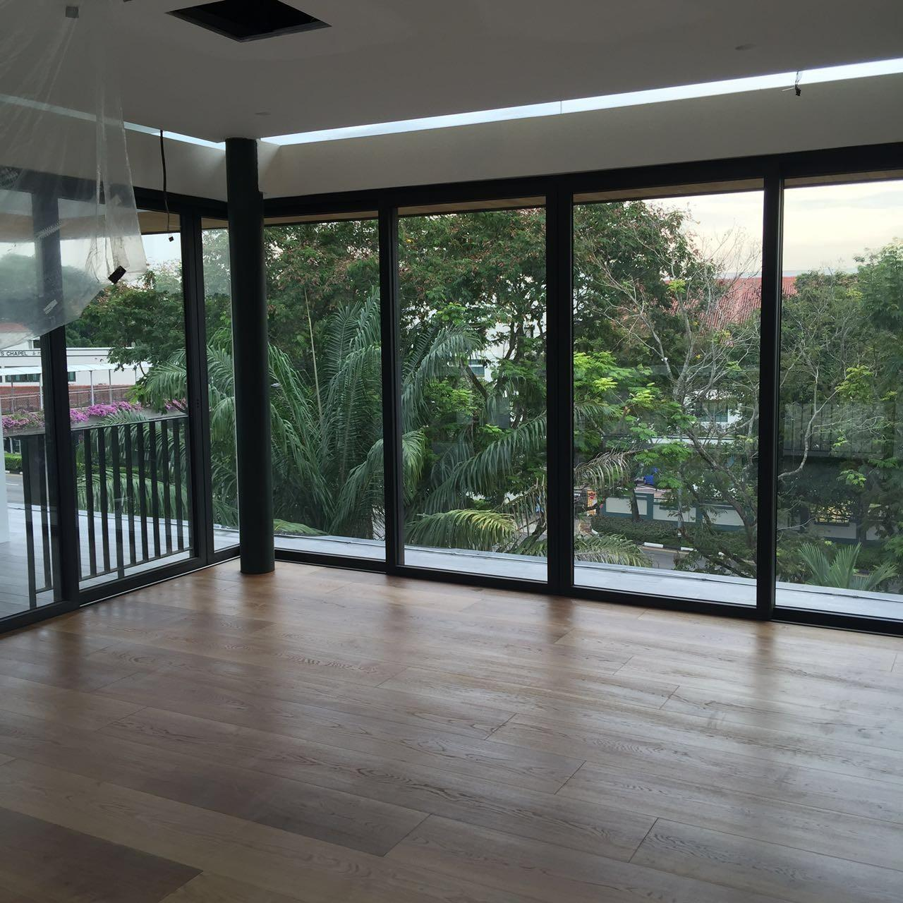Cheap High-end Custom 12'' White Oak Engineered Flooring for Singapore Villa Projects for sale