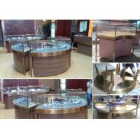 Quality Elegant Design Countertop Jewelry Display Cases Stable Stainless Steel Frame Wood wholesale