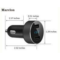 Cheap Intelligent Android Car Charger / Iphone Car Adapter Against Short Circuiting for sale
