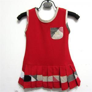 Quality New arrival hot sale spring 2014 B-urberry designer kid sleeveless short cotton dresses wholesale
