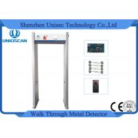 Quality Commercial 6 Zones Walk Through Metal Detector Gate With Full Body Outlay Display wholesale