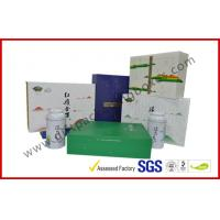 Quality Offset printed Tea / Moon Cake Gift Packaging Box , Customized 157g Printing Paper Gift Packaging Boxes wholesale