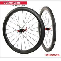 Quality Full Carbon Fiber Wheelset 50mm Clincher Road Bicycle Wheels UD matt paiting wholesale