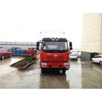 Quality White / Red Color 6.8m FAW 4X2 Refrigerated Truck With 5800mm Wheelbase wholesale