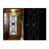 Quality Oval Shaped Iron Glass Entry Doors , Antiseptic Wrought Iron Doors With Glass wholesale