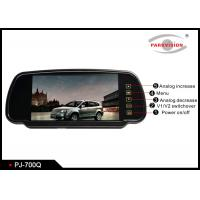 Quality 12 - 24V Truck Rear View Camera , 7 Inch Screen Rear View Mirror Monitor With 4 Way Inputs wholesale
