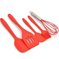 Quality Amazon hot selling 5 Piece Cooking Tool Set Premium Silicone Kitchen Baking Utensil Set wholesale
