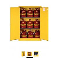 China Horizontal Petrol Drums Storage Cabinets Double Door For Storing 55 Gallon Drum on sale