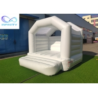 Quality Pink White 0.55mm PVC Inflatable Bouncer Jumping Castle wholesale