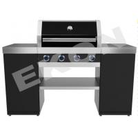 China BBQ Gas Grill, 4 burners, enamel wiring cooking grids on sale