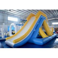 Quality 0.9mm PVC Tarpaulin Giant Inflatable Floating Water Slide With TUV Certificate wholesale