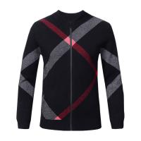 Quality Slim Fit Mens Warm Winter Sweaters Zip Front , Mens Knitted Cardigan Jacket wholesale